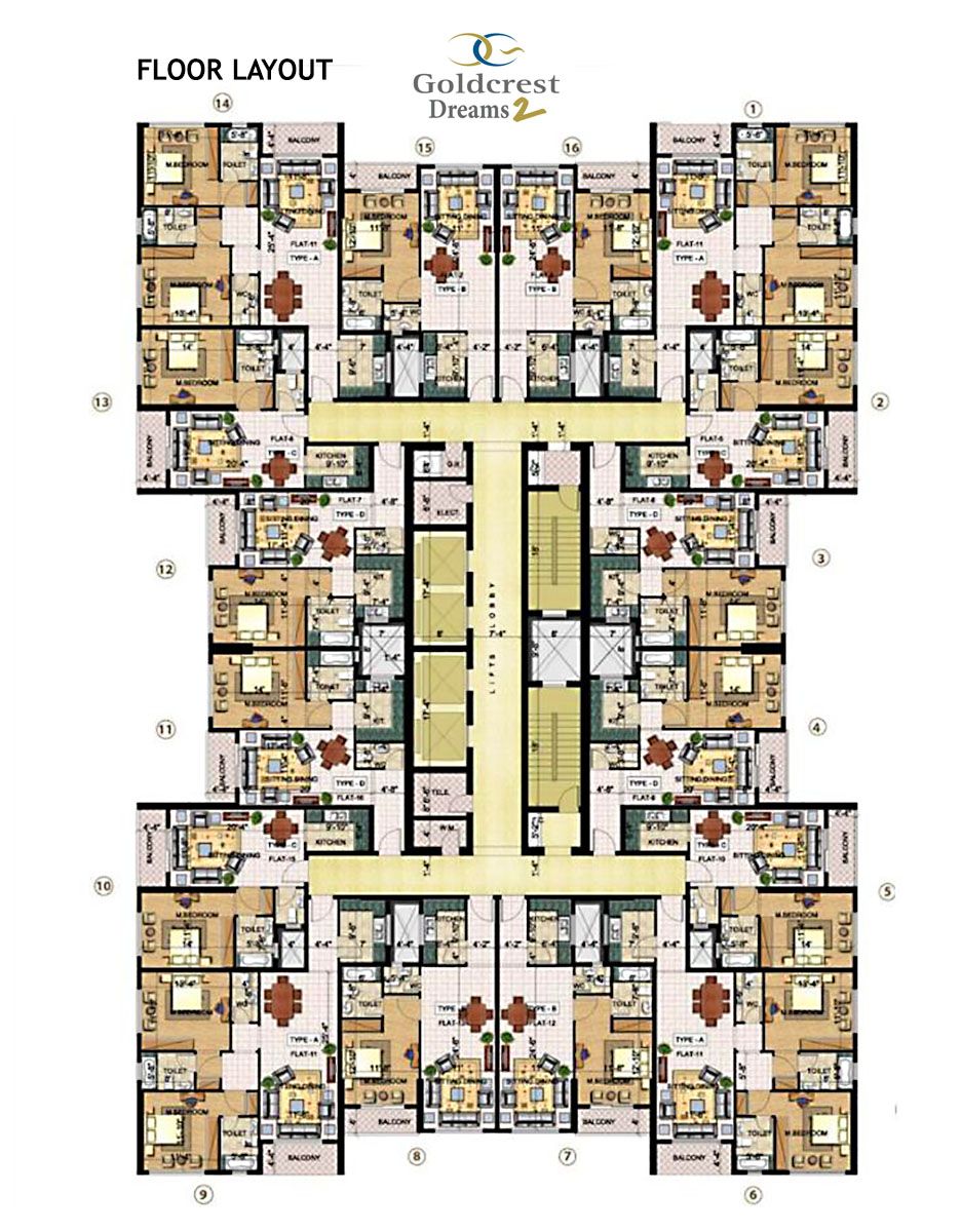 Goldcrest Dreams 2 Floor Plan